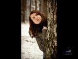 3d фото - Девушка у березы
